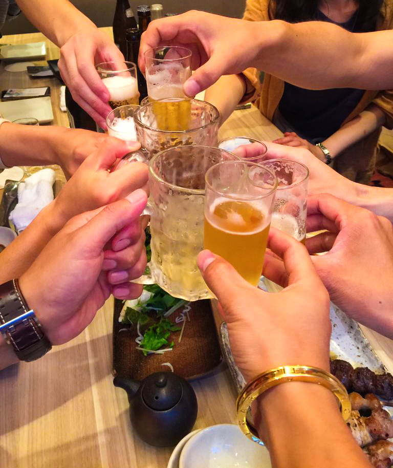 全員で乾杯!