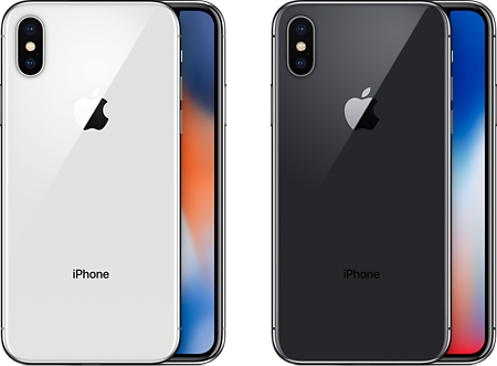iPhone Xのカラーバリエーション