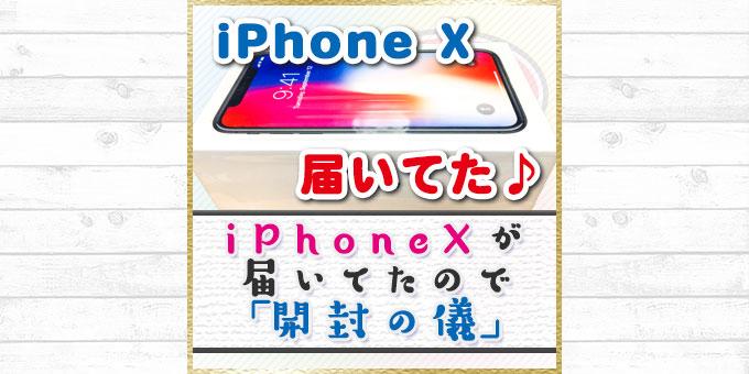 iPhone Xが届いてたのでとりあえず「開封の儀」
