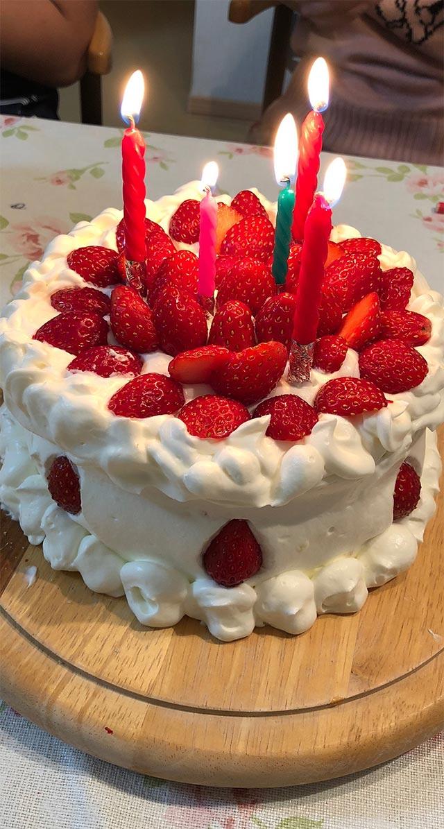 頂いたバースデーケーキ