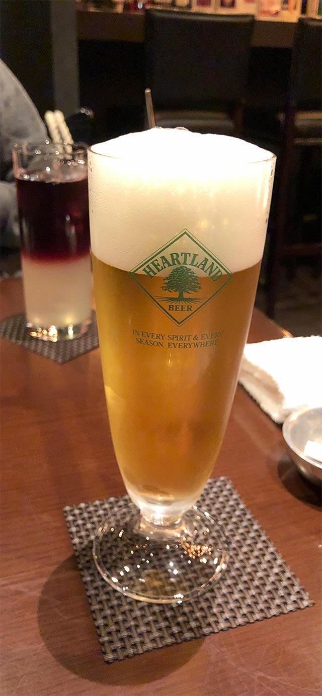 とりあえずビールをオーダー☆
