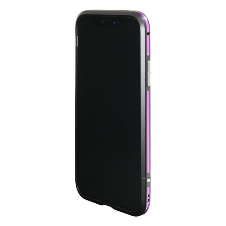 アルミニウムバンパー ブラックパープル iPhone X【12月上旬】