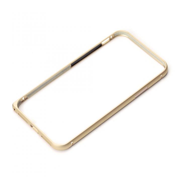 Premium Style アルミバンパー ワンプッシュボタン ゴールド iPhone X