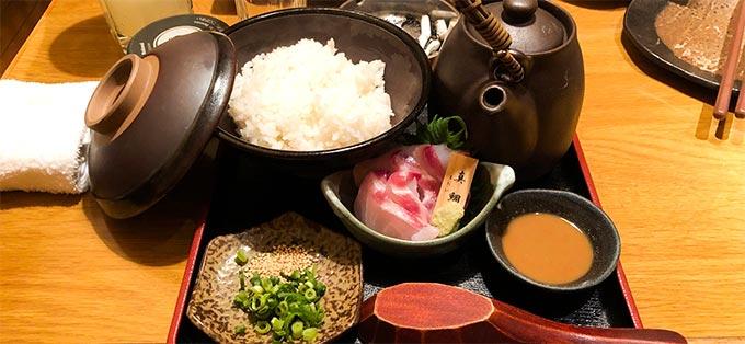 秋葉原「八吉」真鯛のお茶漬けの写真