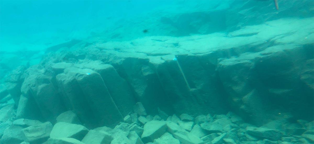 支笏湖の柱状節理