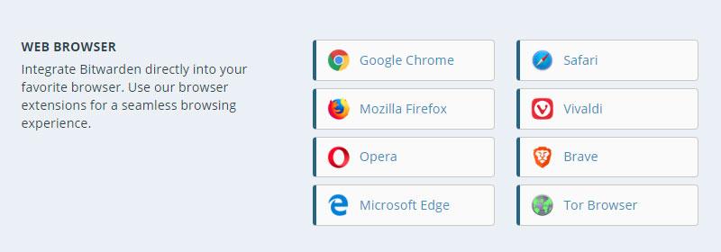 拡張機能をインストールするブラウザを選択