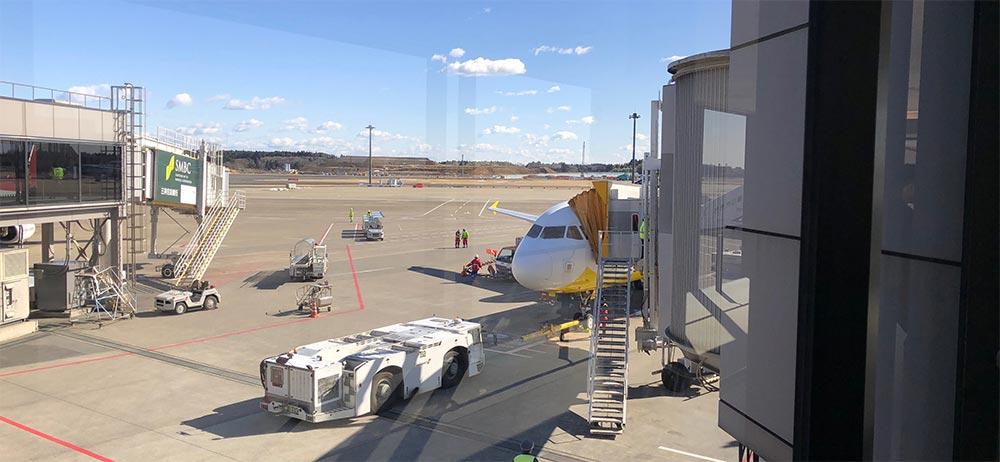 セブパシフィック航空の飛行機in成田空港